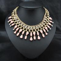 Wedding Jewelry 2014 New Wholesale Fashion Style Women Costume Accessories Europe Acrylic Collar Choker Bib statement Necklace