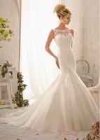 2014 yards shoulder of fishtail wedding dress trailing cy006