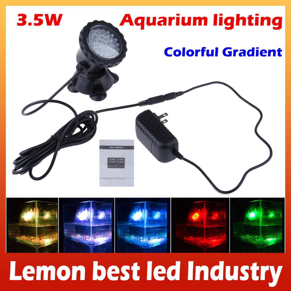 led aquarium lighting bulb 36 SMD RGB Led Underwater light lamp for piscina pool coral reef fish swimming pool EU UK US AU Pulg(China (Mainland))