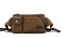 New 2014 Casual Fashion Multi-Functional 4 Color Soft Canvas Zipper Men's Waist Packs 59-3 , Free Shipping