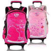 Barbie children trolley/wheels elementary school/student/books  bag backpack/rucksack for girls grade/class 1-4