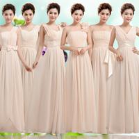New 2014 Fashion Long Bridesmaid Dress Bridal Sister's Dress Evening Long Dress