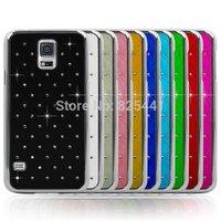 Fashion Bling Rhinestone Diamond stars Case Hard back Cover For Samsung Galaxy S5 SV i9600 Protective Shell 1pcs/lot