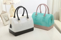 2014 spring and summer candy colored transparent crystal jelly bag women handbag bags
