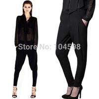 new style 2014 Elasticity Low-waist Fashion Riding trousers Harem Pants Wholesale cheap 6 size women Trousers black pants HDY49