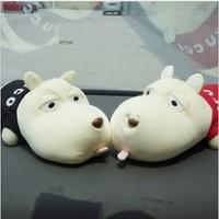 Hot selling Cartoon Dog Bamboo Charcoal Auto Car Deodorant Purify Air Freshener Decor Doll 2pieces/lot