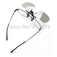 5pcs/lot metal frame Clip-on Circular Polarized 3D Glasses for Real D & Master Image System  for Short-sighted TV Free Shipping