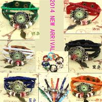 (6 Color) 2014 New Fashion Leather Watch Women Dress Watch stylish Quartz Watches orologio da polso free shipping