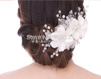 2014 wholesale new fashion Free Shipping Bridal Hairpin Hair Accessory Handmade Beaded Hair Accessory S004