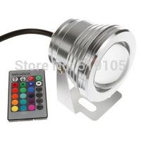 IP68 10W DC 12V RGB LED Underwater Light ,LED Pond Aquarium Piscian Light,LED Swimming Pool Landscape Light + Remote