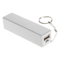 1000mAh Portable White Power Bank with Hanging Ring for iPhone (5V 1A,26cm)