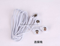 10PCS DC 2.5MM 4 in 1 Head electrode wires /cable for digital therapy machine ,tens machine ,slimming massager Free Shipping