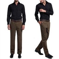 free shipping men's pants , men's cotton casual men pants , slim fit business men dress 32.99