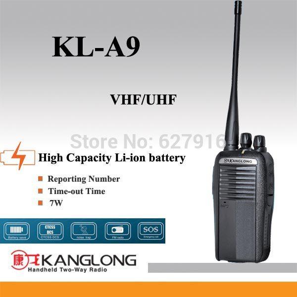 Cheap price 136-174mhz/400-470mhz wireless best walkie talkie KL-A9(China (Mainland))