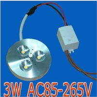 The thinnest 3W Aluminum LED Cabinet Light puck light led down light CREE chip +constant current 3 years warranty