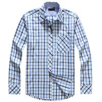 Hot sale!! 2014 free shipping plaid shirt men famous brand fashionable checked top quality designer dress shirt