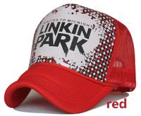 Free Shipping LINKIN PARK letters truck cap Korean Mesh hat Fashionable hats Snapbacks caps, hat circumference 55--59cm 4 color