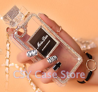 Luxury Phone Cases Diamond Perfume Bottle Style Handbag TPU Cover for iPhone 5 5s 4 4s s5 note 3 Case