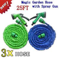 48pcs 2 цвета в коробке длина 7,5 метров пластиковый разъем 25 футов сад полива телескопические шланг + пистолет