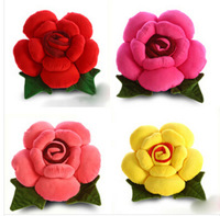 creative boutique Cute plush roses pillow cover  Married Christmas toys Household accessories 25cm  car interior decoration