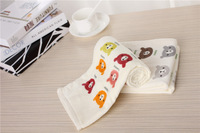 2014 new 100% cotton face towel cartoon multifunction towel as baby bath towel Brand 34x76cm,100g+free shipping