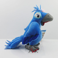 Free shipping New 2014 Rio 2 Toy Plush Jewel Parrot 19cm Hot Movie Rio Stuffed Animals Birds Plush Toys for Children Gift