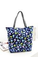 Hot women handbag 2014 new bag waterproof canvas bag shopping bag beach shoulder bag tote wholesale 4 pcs/lot