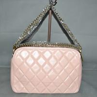 Free shipping Pink sheepskin fashion chains classic elegant ol genuine leather women's handbag cheap