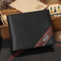 wallets 2014 Quality assurance Cowhide wallet Fashion Leather Men Short Wallet Men Wallets Male Wallets Man Purse  M07