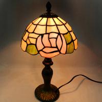 Hot Sale Free Shipping Tiffany lamp restaurant cafe study Desk lamp European pink rose,YSL-950