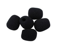 50 pack  black small foam covers Windscreen Windshield for lavalier lapel microphone 001