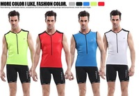 New 2014 Men's Cycling Cycle Vest Jerseys+Bike Shorts Nylon Bicycle Clothing Kit Top Outdoor Spors Cycling Wear