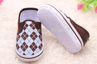 Fashion Baby Boy Shoes Classic Plaid Baby Shoes Infant Soft Sole Non Slip Infant Shoes 0-12 Month 0026