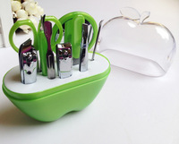 Free shipping(1set) Nail Care Set Stainless Steel Creative gifts practical birthday gift gift apple beauty tool set