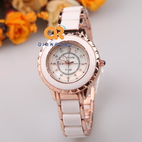 2014 luxury women fashion watch dress brand watch ceramic and stainless steel surface quartz casual Wrist watch FC303-F329