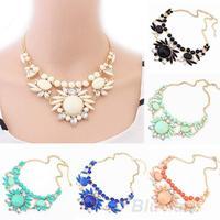 Women Fashion Mixed Style Irregular Bubble Bib Choker Statement Necklace & pendants 05KA