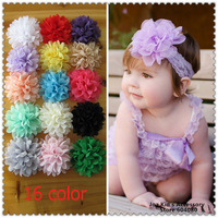 Hot Sale 10cm Chiffon Flowers For Children Headband,Baby Girl Hair Accessories Flower,TH024+Free Shipping0cm