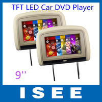 9'' Digital TFT LED Touch Panel Headrest Car DVD Player with Android System and DVD System