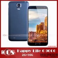 Happy life G9000 i9600 i9005 phone Octa core  MTK6592 S5  1.7Ghz  Android 4.2.2 5.1 Inch IPS screen 3800mah Smart phone
