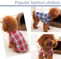 Puppy  Pet Dog Cotton  Plaid Shirt ,  Summer Clothes For Dog Cat ,Pet  Clothing