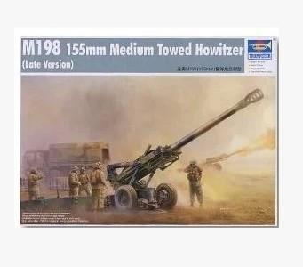 Trumpeter model 02319 1/35 M198(155mm) Medium Towed Howitzer late plastic model kit(China (Mainland))