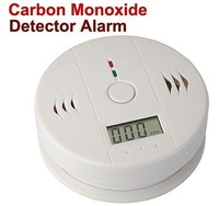 120 Pieces CE LCD display CO Gas Carbon Monoxide Alarm Detector with Retail Package box DHL Free shipping