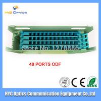 Free shipping 48 ports fiber optic ODF box include 4 12 cores splice tray