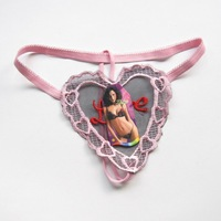 The butterfly embroidery Simple thongs 10 / lot  heart-shaped thong comfortable fashion sexy factory direct sale