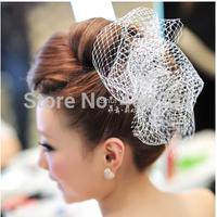 DIY bridal headdress fish bone shape mesh yarn hair accessories wedding accessories wedding hat