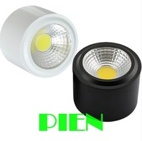5W 7W Surface Mounted LED Downlight COB SMD wall mounted panel lamp warm white 110V 220V CE&ROHS by DHL 20pcs/lot