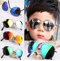 Wholesale Retail Fashion Cheap Children Metal Eyewear Girls Boys Polits Reflective Sunglasses Free Shipping