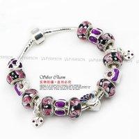 HOT SALE Wholesale 925 Silver European Style Charm Chamilia DIY Bracelets For Women Fashion Jewellery PA1223