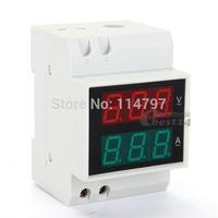 Digital LED AC80-300V  Volt Amp 2 in 1 Combo Meter Voltmeter Ammeter 0.2-99.9A