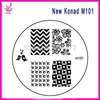 10pcs PER LOTS NEW Nail Art Konad Stamping M101 M102 Mix Designs Wholesales Free Shipping NEW Konad Designs